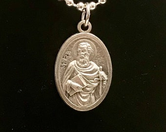 St Paul Medal Necklace
