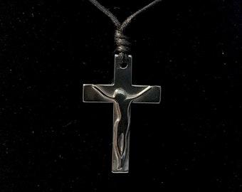 Black Crucifix Necklace