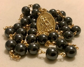 Black and Gold St Michael Chaplet
