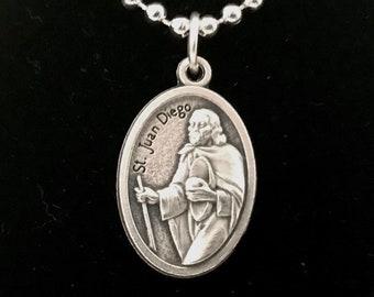 St. Juan Diego Medal Necklace