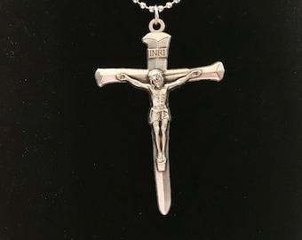 Nail Crucifix Necklace