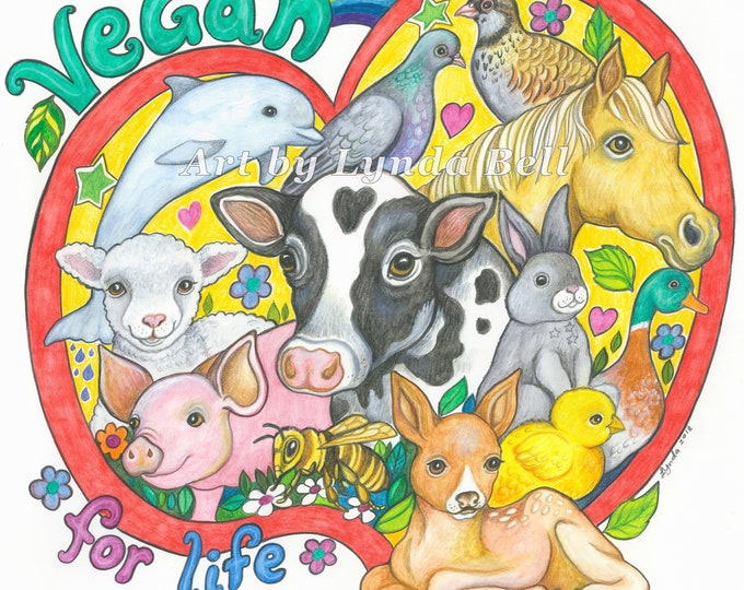 Vegan for Life original artwork