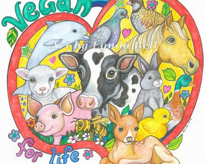 Vegan for Life original artwork