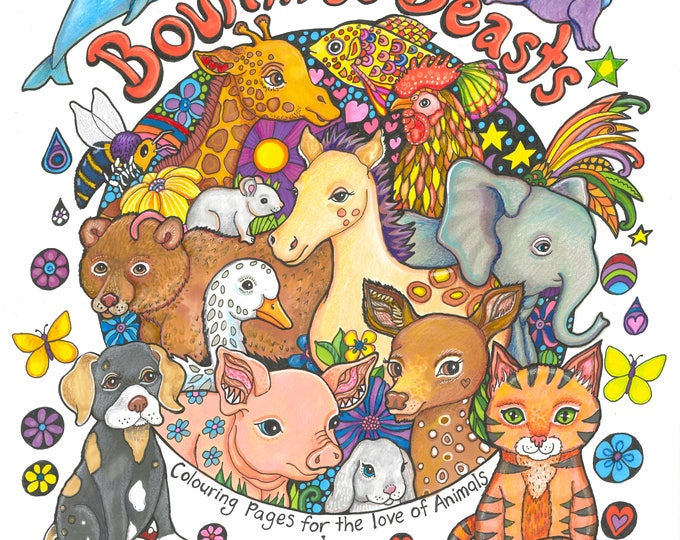 A Colouring Book for the Love of Animals