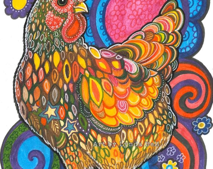 Charming Chicken - original illustration