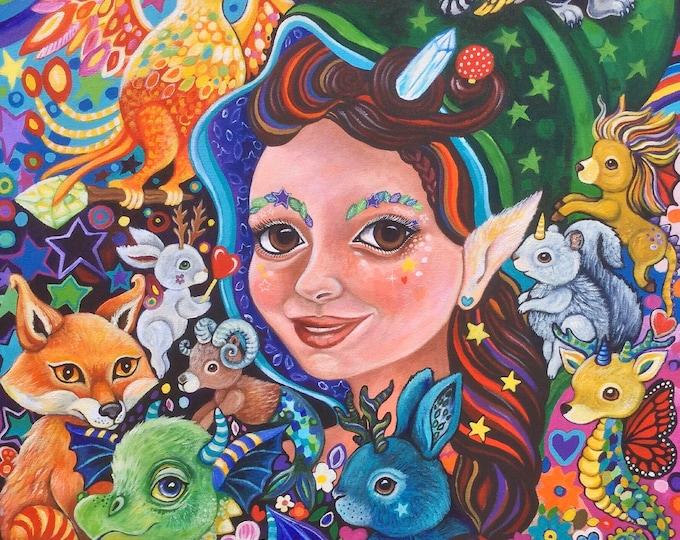 Hazel the Magical Godmother - original painting