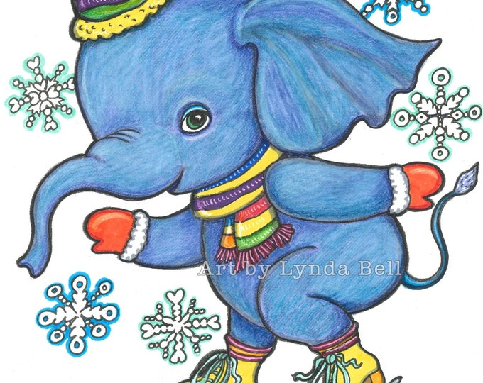 Elephant Skates - original illustration