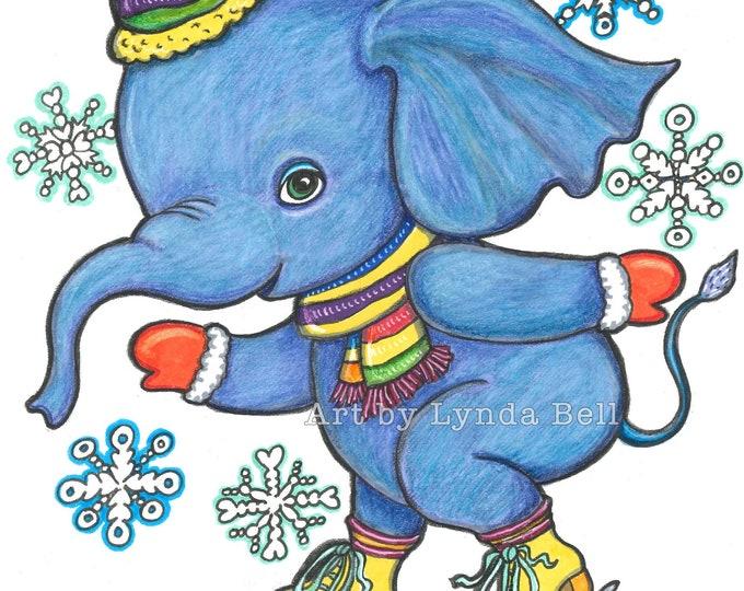 Elephant Skates - original illustration