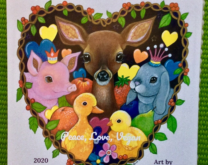 Peace Love Vegan calendar - preorder