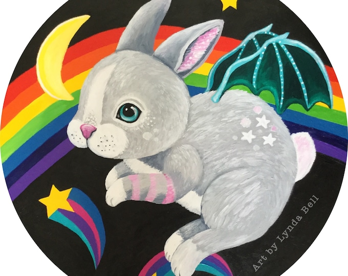 Bunny Bat - original painting