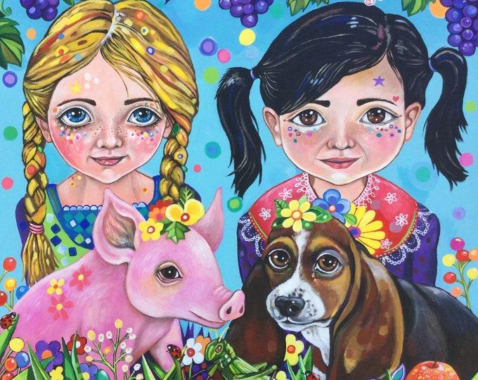 Besties - original painting