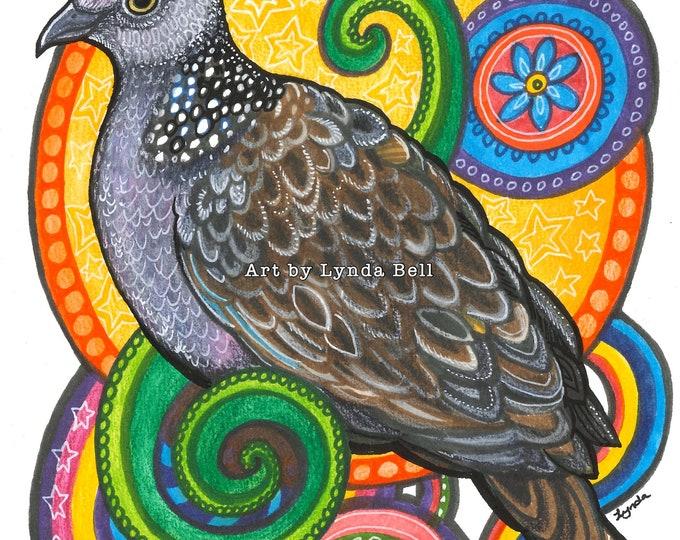 Dazzling Dove - Original Illustration