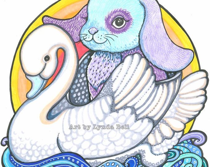 Bunny of Swan Lake - original Illustration