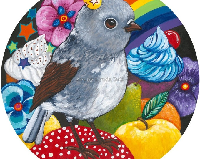 Robin Picnic - original painting