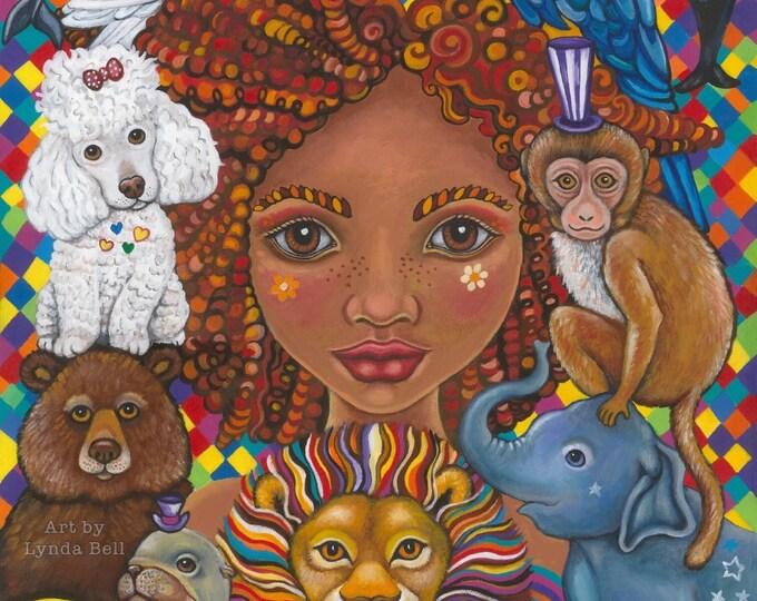 Lolo the Liberation godmother - original painting