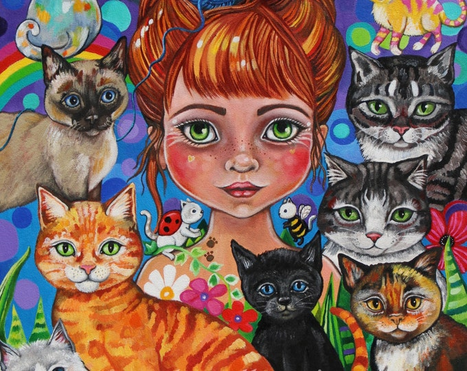 Katia the Purry Godmother - fine art Print A3