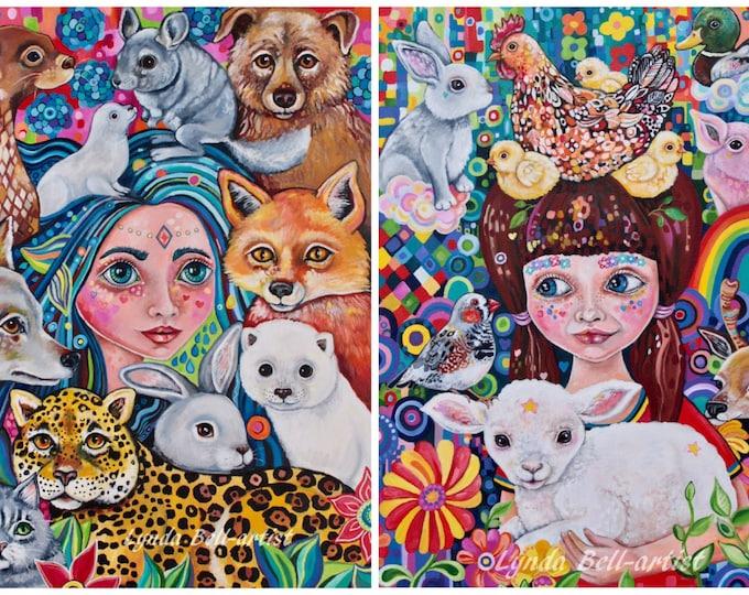 A5 fine art prints: The Godmothers - choose one