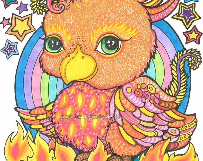 Flame the Phoenix - Original Illustration