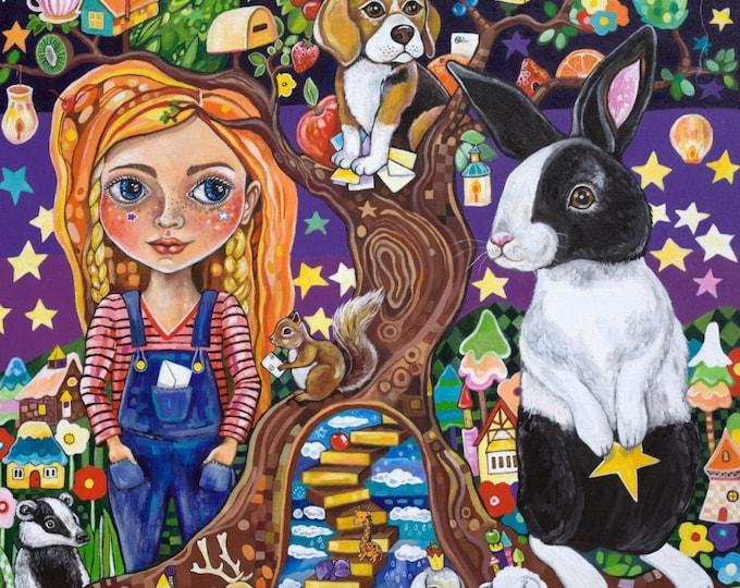 Beneath the Wishing Tree - Fine art Print A3