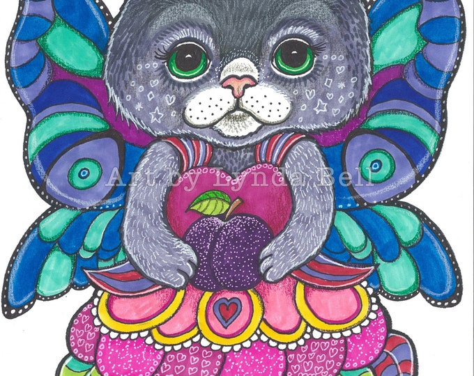 Kitty Sugar Plum - original Illustration