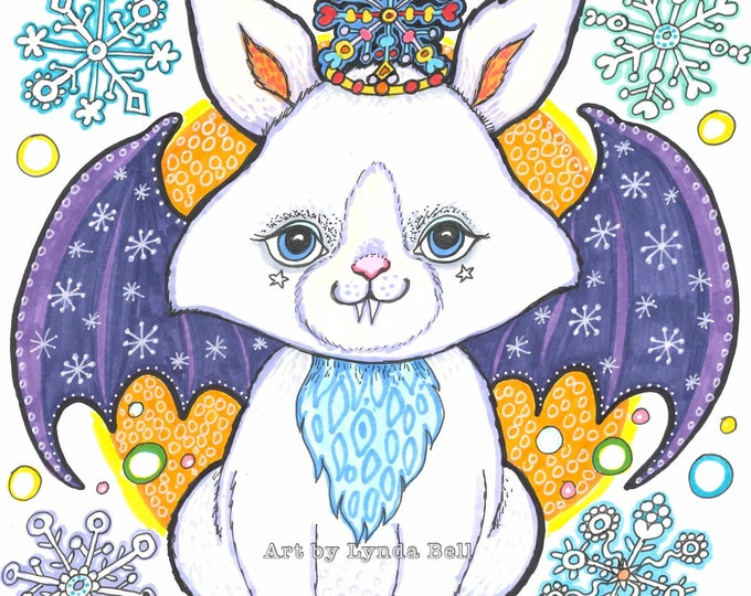 Vlad the Bunny-Bat - Original Illustration