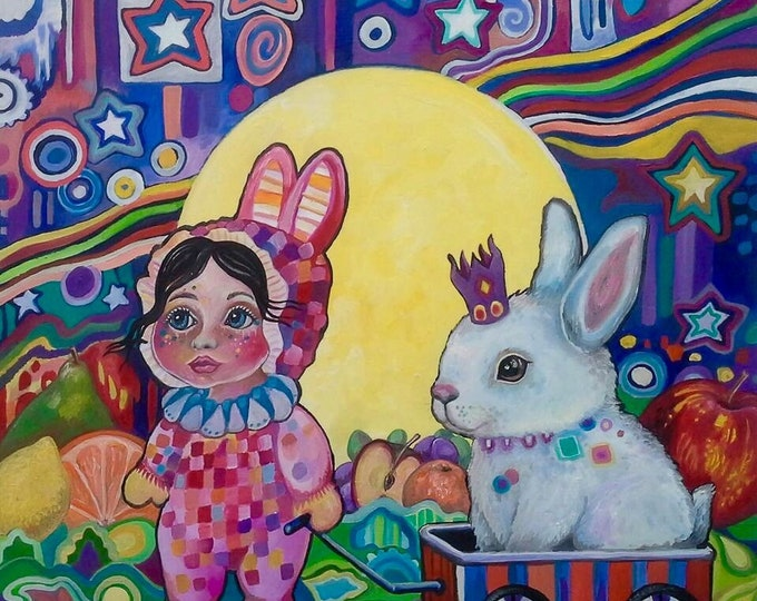 Bunny Dreams - Original painting
