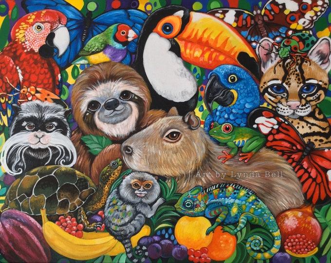 Jungle Picnic - original painting