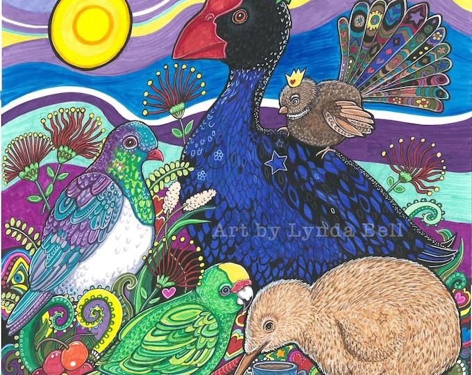 Feative Feathers - original illustration
