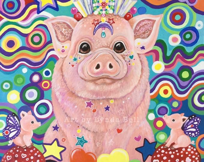 Wonder Pig - fine art print - A4