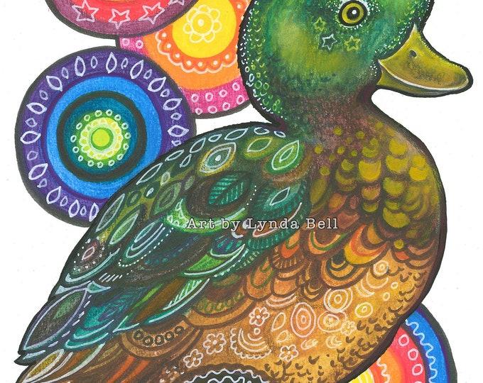 Delightful Duck - original illustration