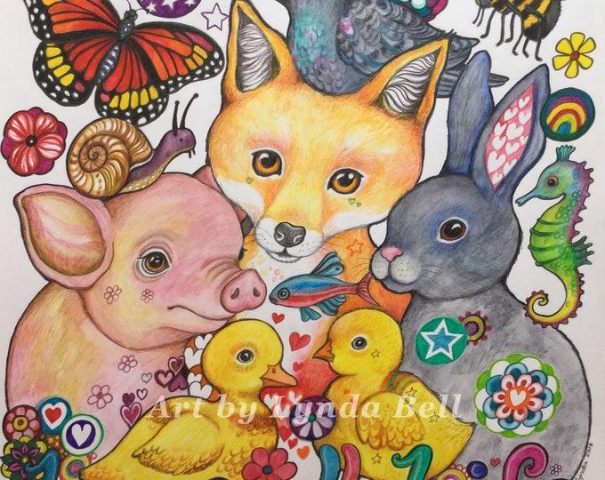 Love All Life - original artwork