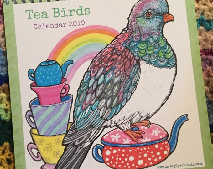 Tea Birds 2019 Calendar