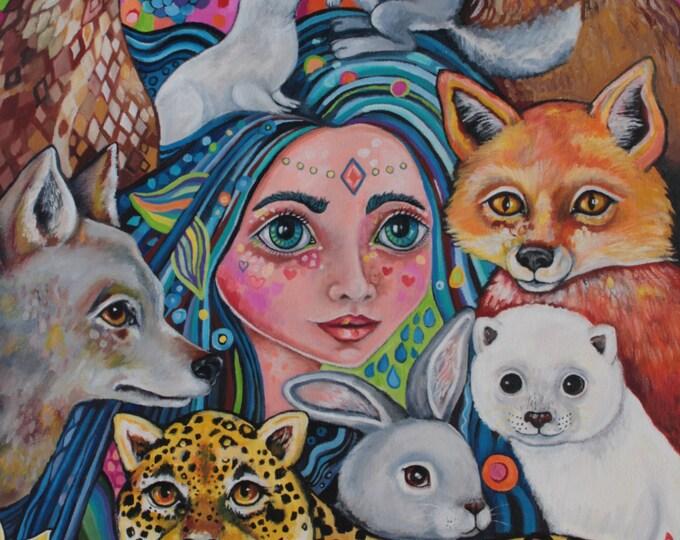 Petra the Furry godmother - A3 print