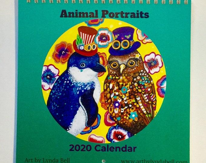 Animal Portraits 2020 calendar preorder