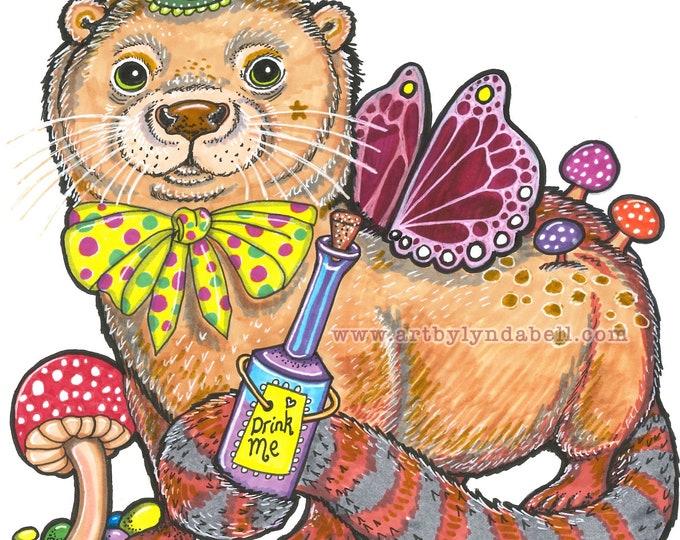 Otter in Wonderland - original illustration