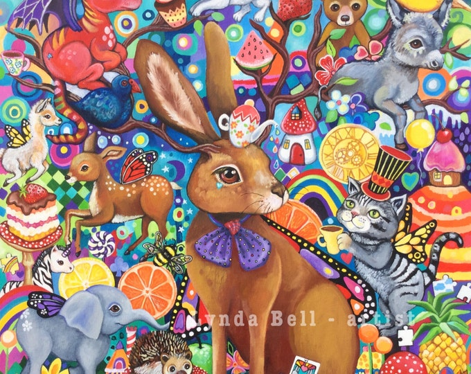 The Hare's Tea-Party - fine art print