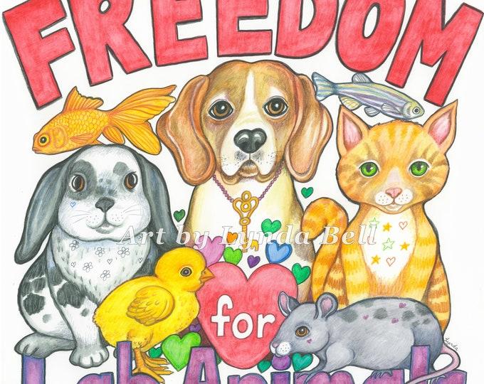 Freedom for Lab Animals original artwork