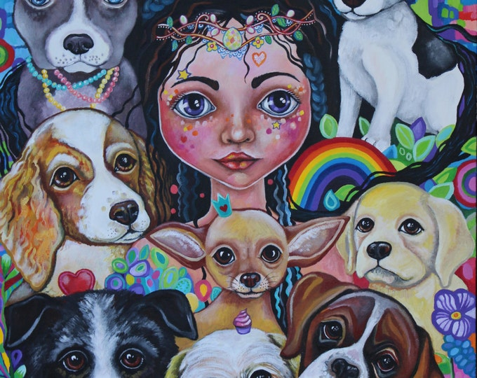 Hilary the Fairy Dogmother - fine art print A3