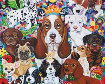 Puppy Party - fine art print