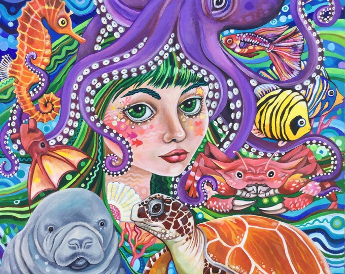 Charlotte the Wavy Godmother - fine art print A3