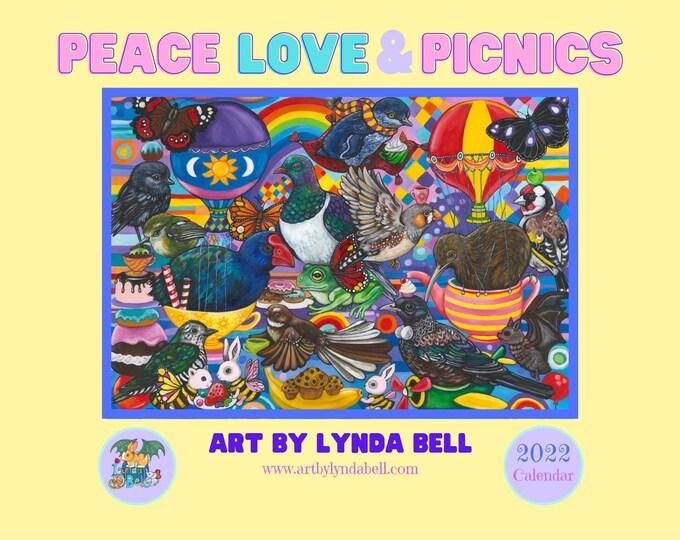 Peace, Love & Picnics - A4 - 2022 calendar