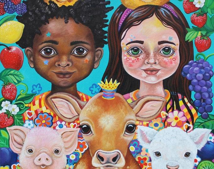 Growing Kindness - fine art print A3
