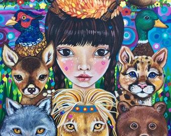 Kiko the Watchful Godmother - original painting