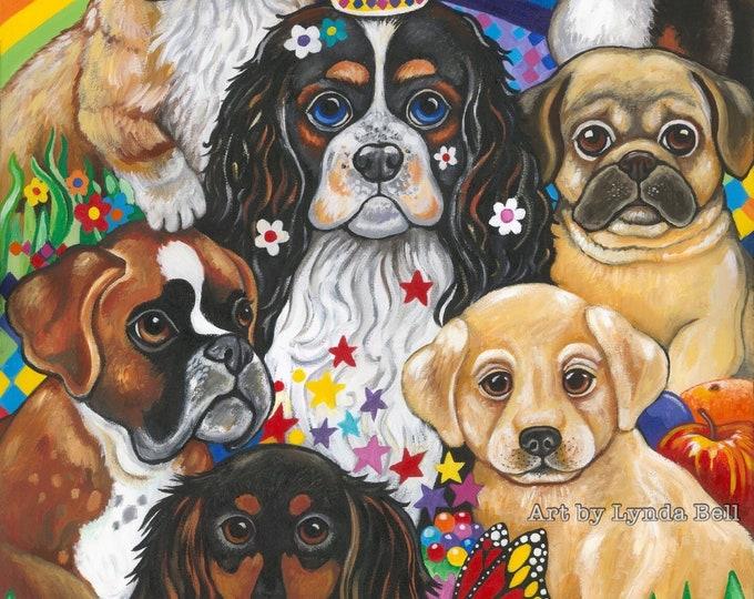 Puppy Picnic - original painting