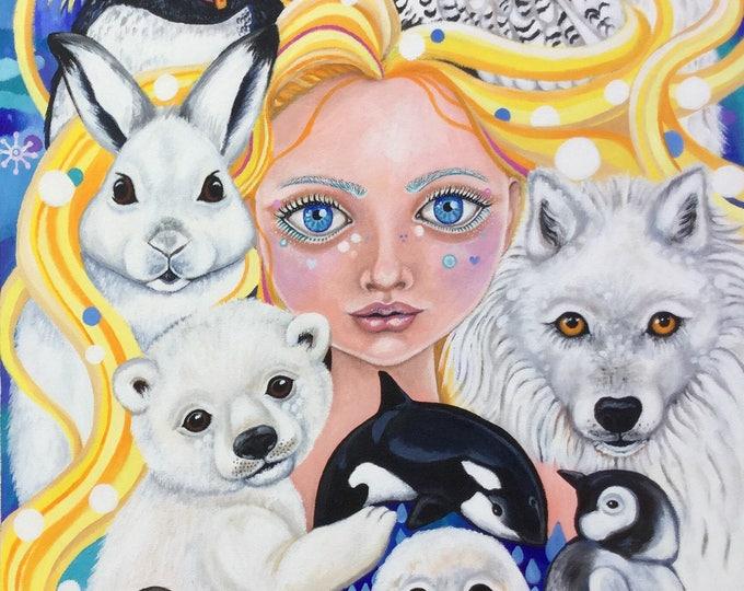 Eira the Snowy Godmother - fine art print A3