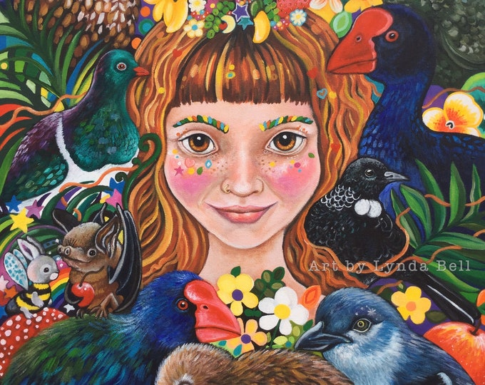 Andrea the Forest Godmother - fine art print A3