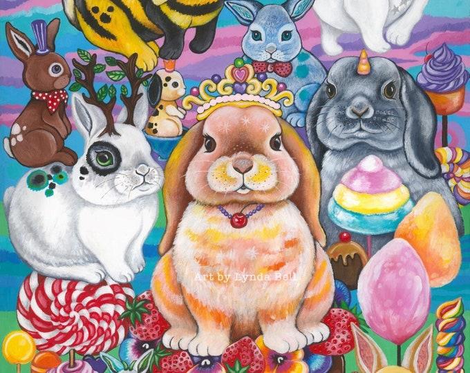 Bunny Picnic - original painting