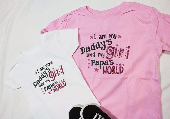 37fc78612 CLOSE OUT   Daddys little girl t shirt   papas girl tshirt