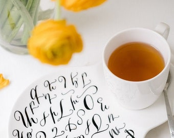 Armenian Alphabet Tea Cup, coffee cup and saucer, armenian coffee, armenian letters, Armenian gifts, coffee cup, armenian wedding gift,