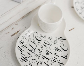 Armenian Alphabet coffee cup, coffee cup and saucer, armenian coffee, armenian letters, Armenian gifts, coffee cup, armenian wedding gift,